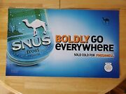 2009 Camel Snus Frost Sign - Cardboard Ad Display - 25andtimes14 1/2 Double Sided