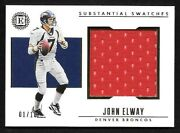 2019 Panini Encased Substantial Swatches Gold 5 John Elway Jumbo Jersey 01/10
