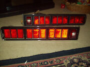 1971 Ford Lincoln Continental Sport Coupe Stop Tail Lights Lens Bezels Housings