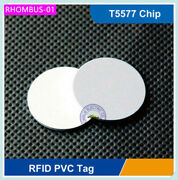 Ф25mm 125khz Rfid T5557/t5577 Proximity Coin Fobs Tags Adhesive Sticker 100 Pcs