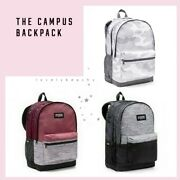 Nwt Nip Victorias Secret Pink Campus Backpack Marl Gray Black Orchid White Camo