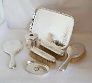 Sterling Silver Dressing Table Vanity Set. London 1900/1901 .by William Comyns