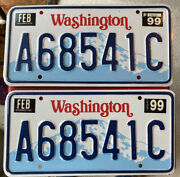 Un Used Nos Pair Of 1999 Washington Truck License Plates. Very Nice A68541c