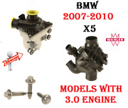 Bmw E70 X5 3.0si 30i Electric Water Pump Assembly With Thermostat And Bolts Kit