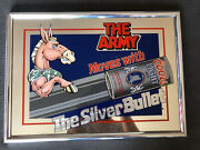 New Vtg Coors Light Beer U.s. Army Mule Mascot Can In Motion Usa Bar Pub Sign