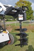 Lowe 750 Round Auger Drive Digger With 24 Wide Bit Fits Skid Steer Quick Attach