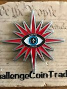Cia Punisher Skull Jester Hat Star Shaped At The End Of The Earth Challenge Coin
