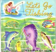 Rare Vintage 1949 Golden Toy Book Let's Go Fishing Richard Scarry Complete