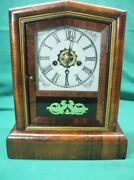 Antique E.n. Welch 30 Hour Mantle Gong Strike Clock Serviced And Guaranteed