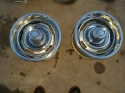 Chevrolet Corvette Gm 15x7 Ralley Wheels With Rings And Centers-pair