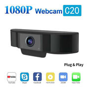 C20 Hd 1080p Webcam Usb2.0 Computer Camera With Noise Cancelling Mic Plug & Play
