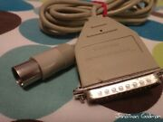 Apple Imagewriter I Serial Cable For Apple Iic 590-0191-a Vintage Rare Part