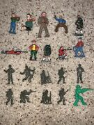 Antique Metal Vintage Pilgrims England Army Men Tin Toy Soldiers Lot Painted