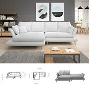 Bmf And039monteand039 Modern Corner Sofa Bed Storage Hr Foam Faux Leather/fabric Lf