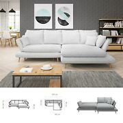 Bmf And039monteand039 Modern Corner Sofa Bed Storage Hr Foam Faux Leather/fabric Rf
