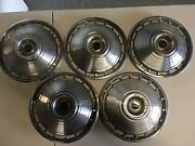 5 Vintage 1964 Chevy Chevrolet Corvair Monza 13 Inch Hubcaps Wheel Covers Oem