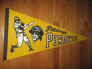 Vintage 60s Pittsburgh Pirates Bucs 30 Pennant Roberto Clemente Willie Stargell