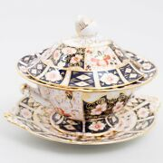 Royal Crown Derby And039traditional Imariand039 Bone China Tureen W Lid And Underplate 2451