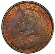 1912 Canada George V Bronze Cent Pcgs Gem Ms-65 Red And Brown Km21 Ottawa Mint