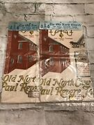 Rare Vintage Lot Of 2 Stevens All Linen Americana Kitchen Towels Made In Usa
