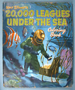 1954 20000 Leagues Under The Sea Oversized Coloring Book W Disney Jules Verne
