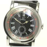 Omega Pilot Self-winding Stainless Steel Leather Belt Black Menand039s Watch[b0510]