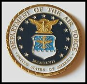 U.s. United States | Department Of Air Force Usaf | Gold Plated Challenge Coin