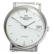 Portofinodate Automatic Stainless Steel White Menand039s Watch From Japan[b0510]