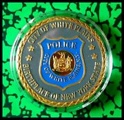 U.s. United States   White Plains Police Department   Gold Plated Challenge Coin