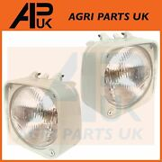 Pair Headlight Headlamp And Cowl For Ford New Holland 4610 5610 6610 7610 Tractor