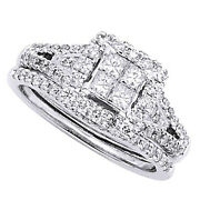 1.5 Ct Princess Simulated In 18k White Gold Over Cinderella Engagement Ring