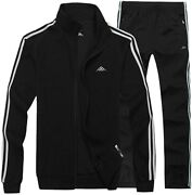 Real Spark Menand039s Athletic Full-zip Jogger Sweat Suit Sports Sets Casual Tracksui