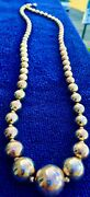 Vintage Sterling Silver Beaded Necklace Graduated Beads 2 1/2 Ounce Estate Sale
