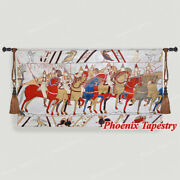 Bayeux I Tapestry Wall Hanging Jacquard Weave Large Gobelin 100 Cotton 55x31