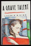 Laurie R. King. A Grave Talent. 1st/1st, F/f First Novel, Signed