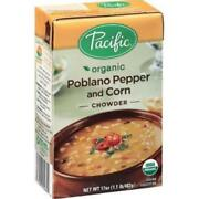 Pacific Natural Foods-poblano Pepper And Corn Chowder Pack Of 12 17 Oz Boxes