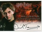 Artbox Harry Potter Autograph Trading Card David Tennant Barty Crouch Jr Gof