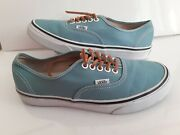 Off The Wall Teal Blue Classic Lace Up Sneakers Shoes Menand039s 7