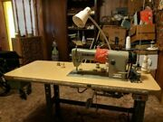 Brother Sewing Machine Model Db2-b755-3 Includes Table And Foot Pedal