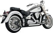 Vance And Hines Staggered Chrome Shortshots Exhaust 1999-07 Yamaha Road Star 18517