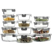 Air Tight Glass Food Storage Organizer Containers For Deli Meat Baby Kitchen