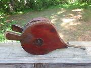 Antique Authentic Working Blacksmith Forge Fire Bellows Dutch German Pa. Tooled