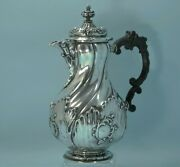 Antique German Silver Hand Hammered Coffee Pot Possibly Frankfurt Early 19th C.