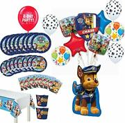 Paw Patrol Party Supplies Birthday 8 Guest Table Decorations And Chase Balloo...