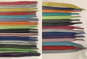 10 Pair Bulk Flat Or Round Reflective Shoelaces 36 45 54 63 72 Shoe Lace Strings