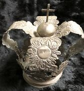 Mid-19th Cent. Spanish Colonial 800/833 Silver Santos Crown - 430 Grams