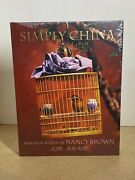 Simply China Nancy Brown 2001 Hardcover Coffee Table Nikon D Photographs Book