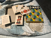 Antique 1930s Old Maid Milton Bradley Complete Game And Cards Toodles Sunny Jim