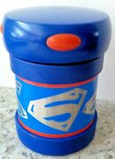 Superman 10 Oz. Stainless Steel Thermos ...tm And Dc Comics Vguc