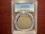 1806 50c Pointed 6, Stem Draped Bust Half Dollar Pcgs Xf40 Free Express Mail